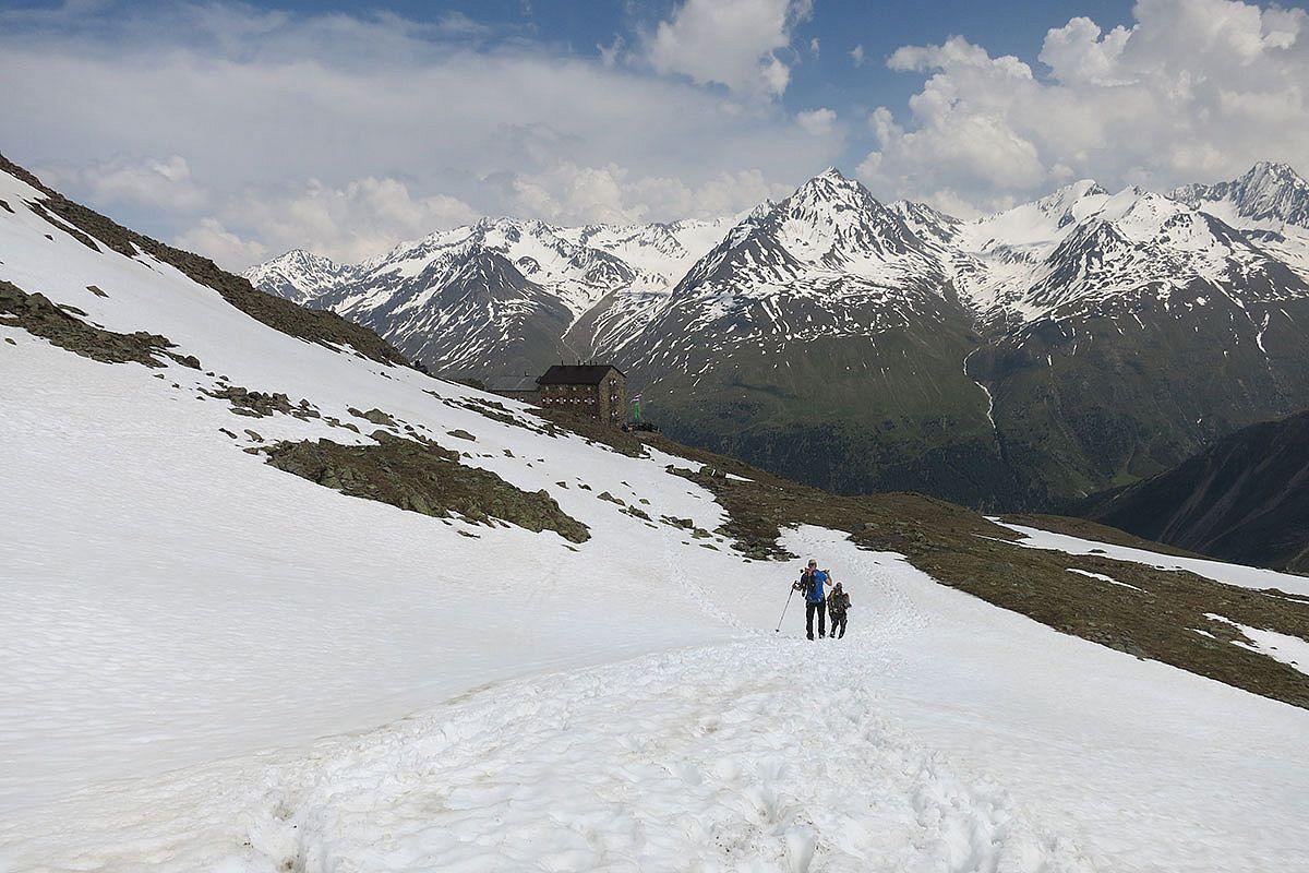 High alpine Ötztaler hut to hut hike